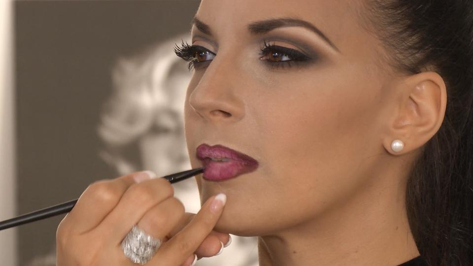Maquillage des lèvres ombrées