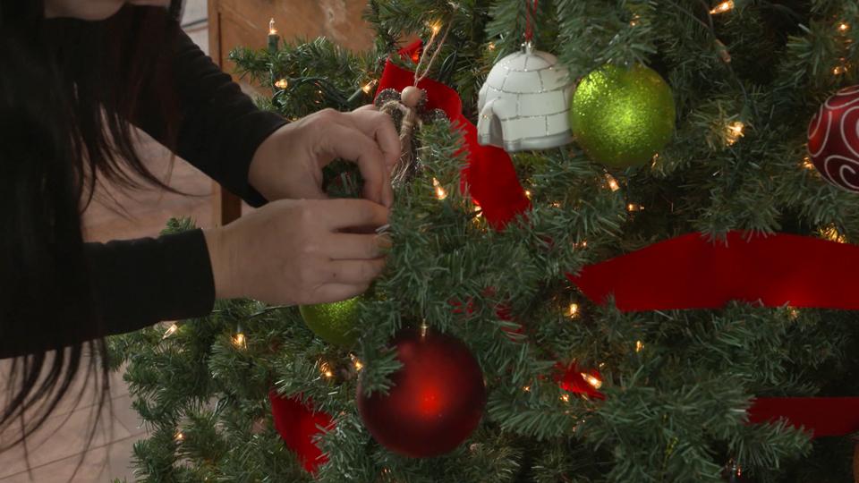 On décore pour Noël