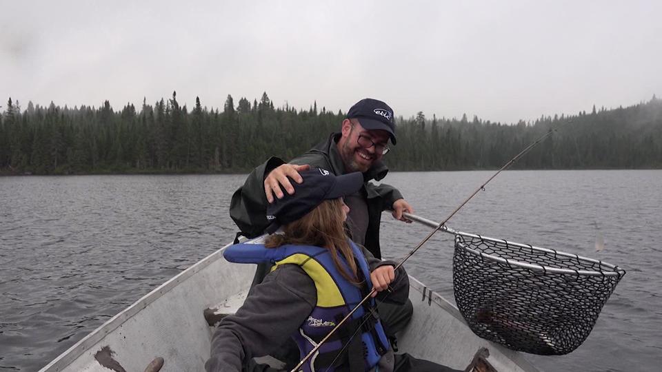 Pêche avec les enfants
