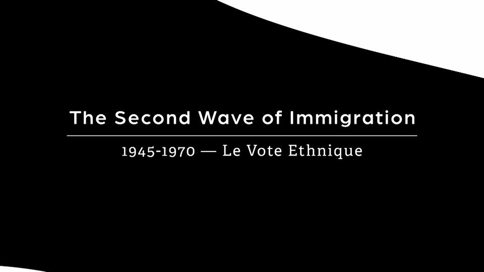 The Second Wave, 1945-1970 - Le Vote Ethnique