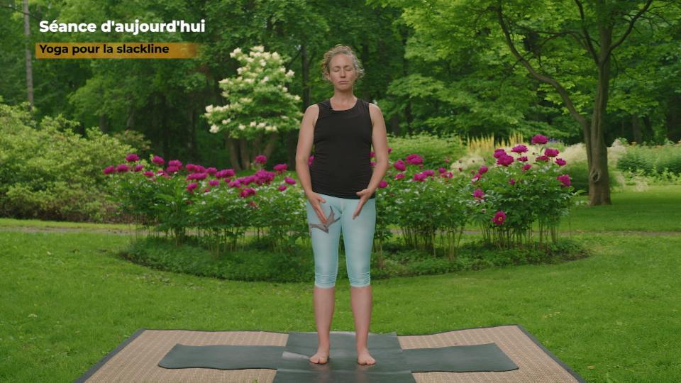 Yoga pour le slackline