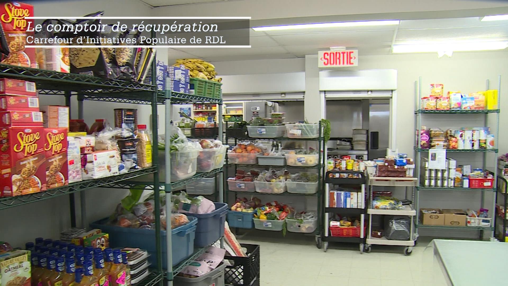Le comptoir de récupération alimentaire