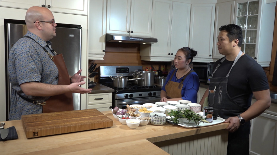 Shrimp Coconut Laksa & Braised Québec Rabbit Leg